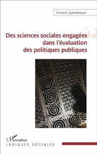 Cover Des sciences sociales engagees dans l'evaluation des politiq