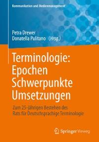 Cover Terminologie : Epochen – Schwerpunkte – Umsetzungen