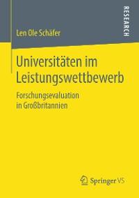 Cover Universitäten im Leistungswettbewerb
