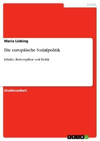 Cover Die europäische Sozialpolitik