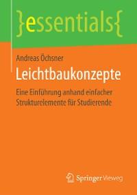 Cover Leichtbaukonzepte