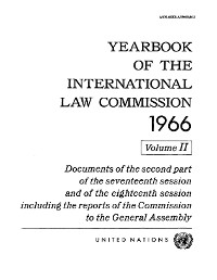 Cover Yearbook of the International Law Commission 1966, Vol II