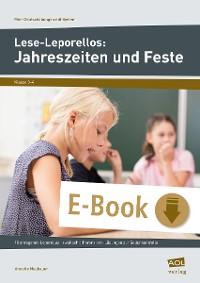 Cover Lese-Leporellos: Jahreszeiten und Feste Kl. 3/4
