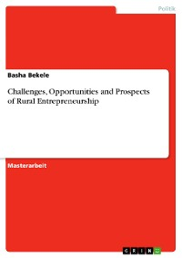 Cover Challenges, opportunities and prospects of rural Entrepreneurship