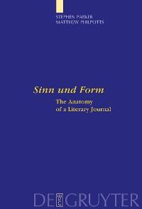 """Cover """"Sinn und Form"""""""