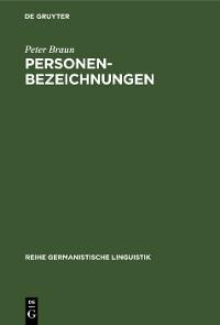 Cover Personenbezeichnungen