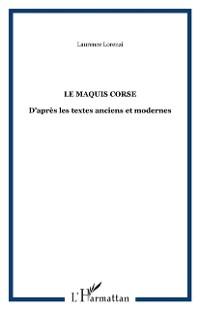 Cover LE MAQUIS CORSE