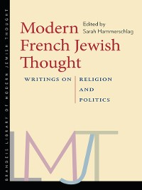 Cover Modern French Jewish Thought