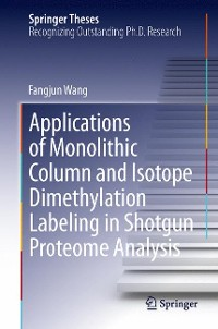Cover Applications of Monolithic Column and Isotope Dimethylation Labeling in Shotgun Proteome Analysis