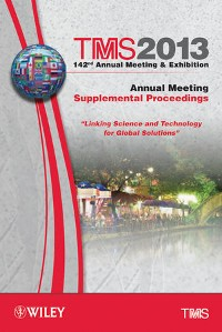 Cover TMS 2013 142nd Annual Meeting and Exhibition