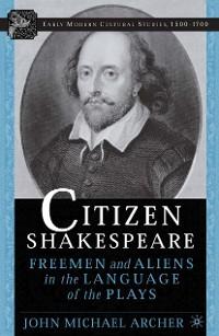 Cover Citizen Shakespeare