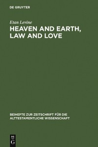 Cover Heaven and Earth, Law and Love