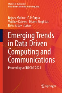 Cover Emerging Trends in Data Driven Computing and Communications