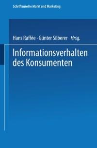 Cover Informationsverhalten des Konsumenten