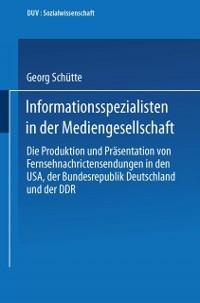 Cover Informationsspezialisten in der Mediengesellschaft