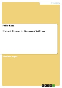 Cover Natural Person in German Civil Law