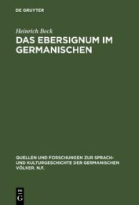 Cover Das Ebersignum im Germanischen