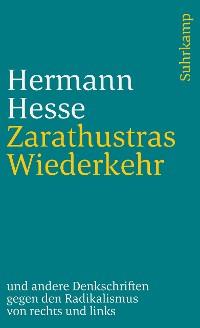 Cover Zarathustras Wiederkehr