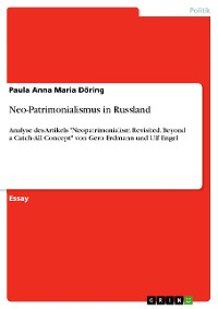 Cover Neo-Patrimonialismus in Russland