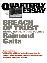 Cover Quarterly Essay 16 Breach of Trust