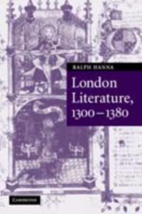 Cover London Literature, 1300-1380