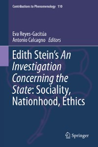 Cover Edith Stein's An Investigation Concerning the State: Sociality, Nationhood, Ethics