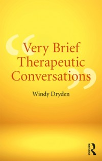 Cover Very Brief Therapeutic Conversations