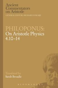 Cover Philoponus: On Aristotle Physics 4.10-14
