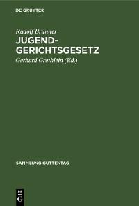Cover Jugendgerichtsgesetz