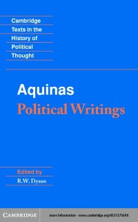 Cover Aquinas: Political Writings