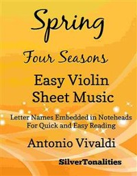 Cover Spring Four Seasons Easy Violin Sheet Music