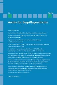 Cover Archiv für Begriffsgeschichte / Archiv für Begriffsgeschichte. Band 56
