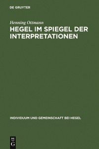 Cover Hegel im Spiegel der Interpretationen