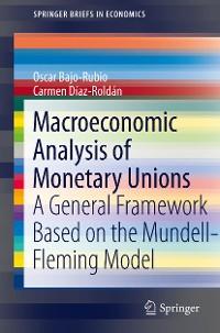 Cover Macroeconomic Analysis of Monetary Unions