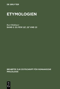 Cover Zu FEW 22¹, 22² und 23