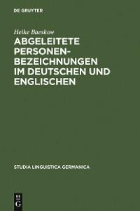 Cover Abgeleitete Personenbezeichnungen im Deutschen und Englischen