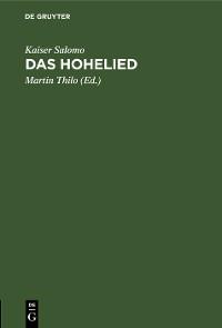 Cover Das Hohelied