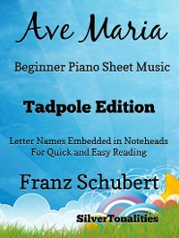Cover Ave Maria Beginner Piano Sheet Music Tadpole Edition