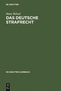 Cover Das Deutsche Strafrecht