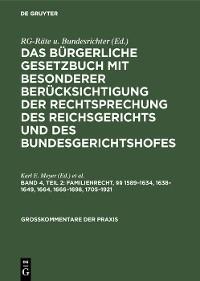 Cover Familienrecht, §§ 1589–1634, 1638–1649, 1664, 1666–1698, 1705–1921
