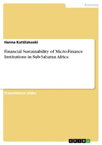 Cover Financial Sustainability of Micro-Finance Institutions in Sub-Saharan Africa