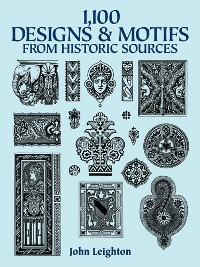 Cover 1,100 Designs and Motifs from Historic Sources