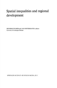Cover Spatial inequalities and regional development