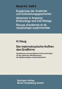 Cover Der makroskopische Aufbau des Grohirns