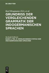 Cover Vergleichende Syntax der indogermanischen Sprachen
