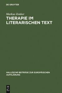 Cover Therapie im literarischen Text