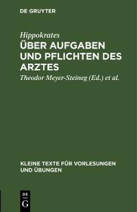 Cover Über Aufgaben und Pflichten des Arztes