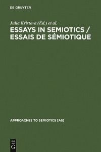 Cover Essays in Semiotics /Essais de sémiotique