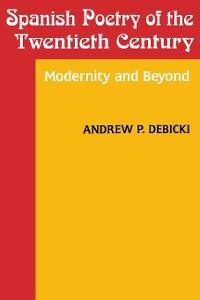Cover Spanish Poetry of the Twentieth Century