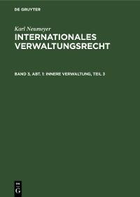 Cover Innere Verwaltung, Teil 3